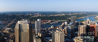 City Of Pittsburgh Panorama Art Print by Amy Cicconi