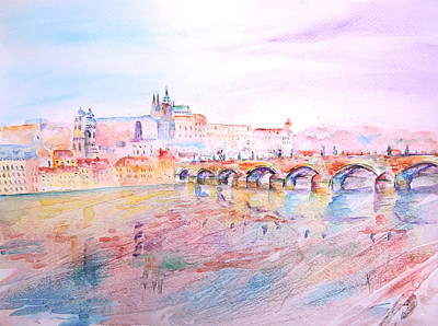 Painting - City Of Prague by Elizabeth Lock