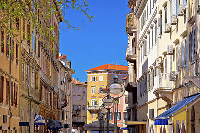 Photograph - City Of Rijeka Center Street View by Brch Photography