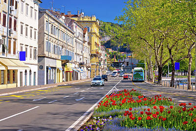 Photograph - City Of Rijeka Delta Street View by Brch Photography