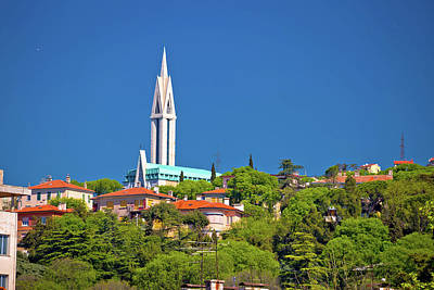 Photograph - City Of Rijeka Hill Church View by Brch Photography