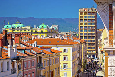 Photograph - City Of Rijeka Main Korzo Square by Brch Photography