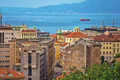 Photograph - City Of Rijeka Waterfront View by Brch Photography