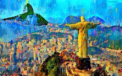 Forest Painting - City Of Rio De Janeiro - Pa by Leonardo Digenio