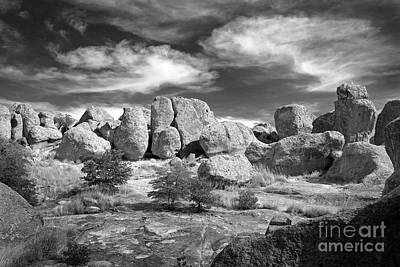 Print featuring the photograph City Of Rocks And Sky by Martin Konopacki