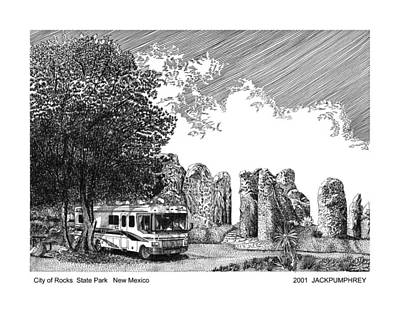 Drawing - City Of Rocks State Park by Jack Pumphrey