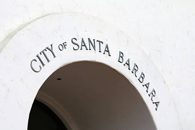 Of Santa Barbara Photograph - City Of Santa Barbara by Art Block Collections
