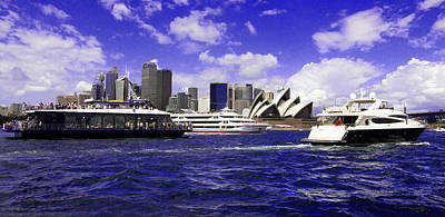 Photograph - City Of Sydney And Opera House Surrounded By Blue  by Miroslava Jurcik