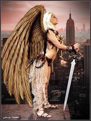 Photograph - City Of The Hawk Woman by Jon Volden