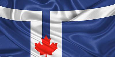 Digital Art - City Of Toronto Flag  by Serge Averbukh