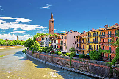 Photograph - City Of Verona Adige Riverfront View by Brch Photography