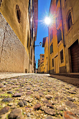 Photograph - City Of Verona Colorful Steet View by Brch Photography