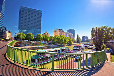 Photograph - City Of Vienna Dandube River Waterfront View by Brch Photography