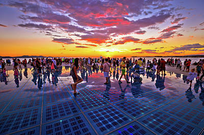 Photograph - City Of Zadar Greetings To The Sun Landmark by Brch Photography