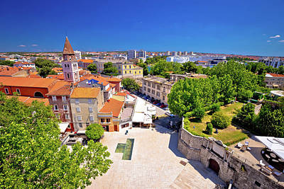 Photograph - City Of Zadar Landmarks And Cityscape Aerial View by Brch Photography