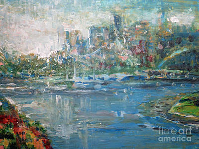 City On The Bay Art Print by John Fish