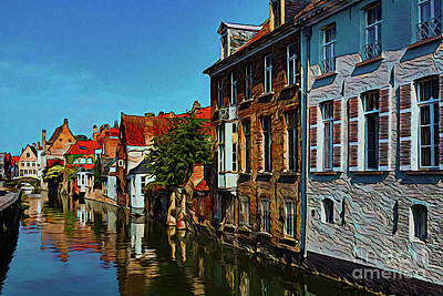 Photograph - City On The Canal by Ray Shrewsberry