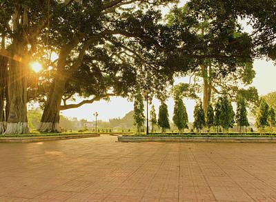 Photograph - City Park Buon Me Thuot by Tran Minh Quan