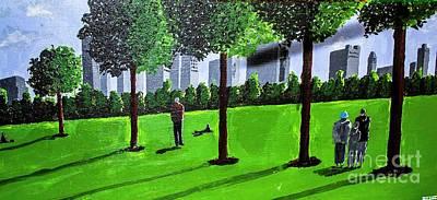 Painting - City Park By David Jackson by David Jackson