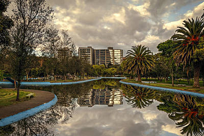 Photograph - Park Waterway by Maria Coulson