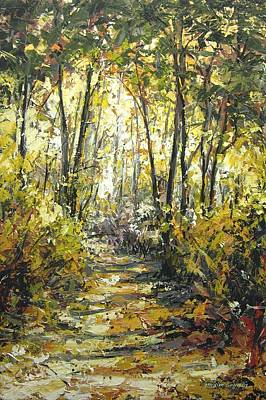 Painting - City Park Trail by Maxim Grunin