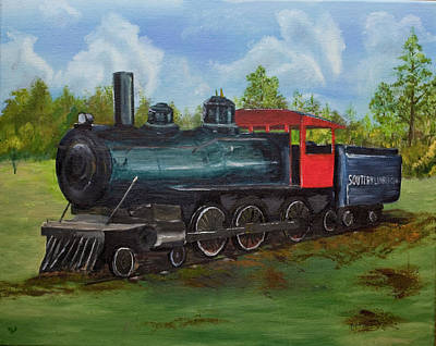 Painting - City Park Train by Robert Camp
