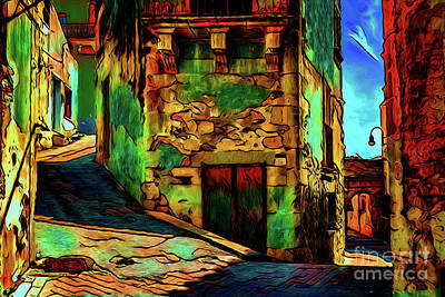 Photograph - City Passageway 16418 by Ray Shrewsberry