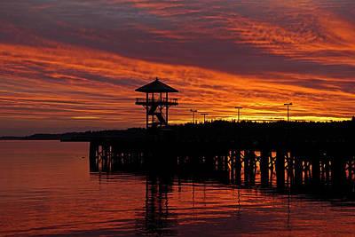 Photograph - City Pier At Dawn by Inge Riis McDonald