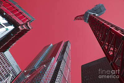 Tower Crane Photograph - City Pink  by Rob Hawkins