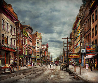 Photograph - City - Poughkeepsie Ny - The Ever Changing Market Place 1906 by Mike Savad