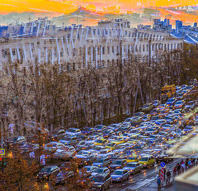 Photograph - City Traffic by Vladimir Kholostykh