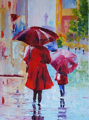Painting - City Rain by Valerie Curtiss