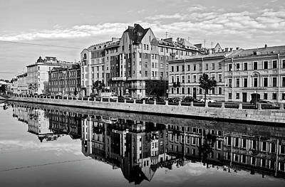 Sait Photograph - City Reflected In The Water Channels by Alex Galkin