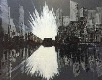 Painting - City Reflections by Chris Bishop