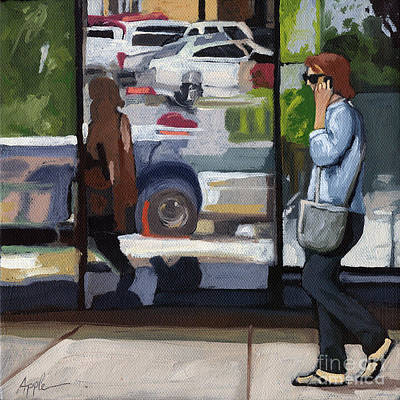 Painting - City Reflections - Columbus Ohio by Linda Apple