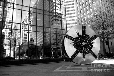 Photograph - City Reflections In Black And White by Shelia Kempf