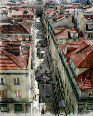 Photograph - City Rooftops by Anthony Dezenzio
