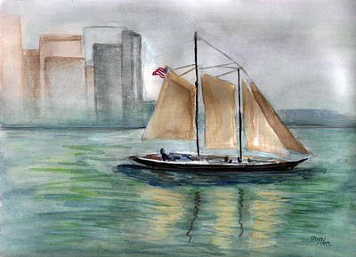 Painting - City Sail by Clara Sue Beym