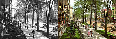 Photograph - City - Saratoga Ny -  I Would Love To Be On Broadway 1915 - Side By Side by Mike Savad