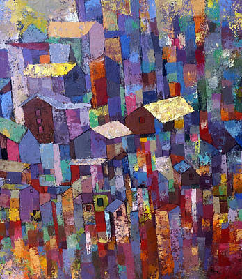 Painter Mixed Media - City Scape 1 by Ronex Ahimbisibwe