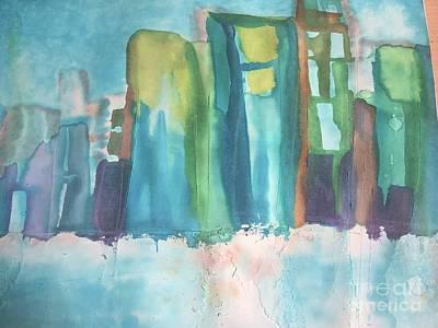 Pastel - City Scape by Karen Nicholson