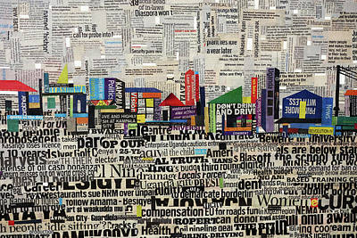 Mixed Media - City Scape by Ronex Ahimbisibwe