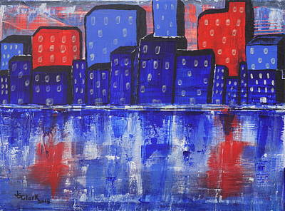 Painting - City Scape_abstract by Jimmy Clark