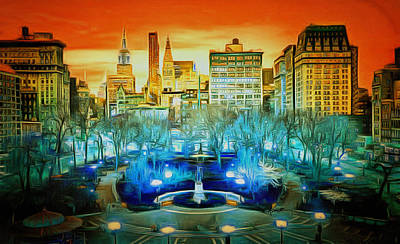 City Scene Art Print by Anthony Caruso