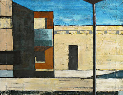 Michael Ward Painting - City Scene by Michael Ward