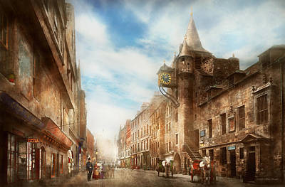 Burgh Photograph - City - Scotland - Tolbooth Operator 1865 by Mike Savad