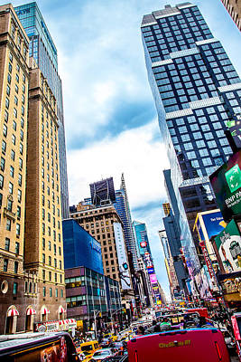 Time Square Photograph - City Sights Nyc by Az Jackson