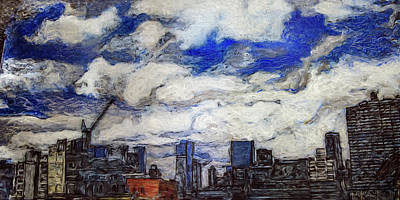 Painting - City Sky by Ron Richard Baviello