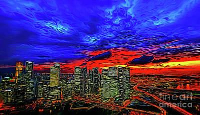 Photograph - City Skyline 10818 by Ray Shrewsberry