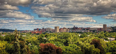 Syracuse Photograph - City Skyline by Everet Regal